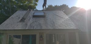 During Roof Cleaning in Beverly, MA (4)