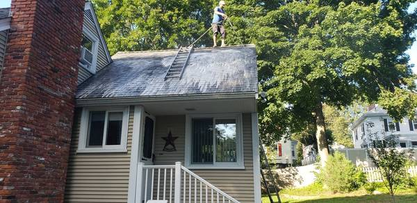 During Roof Cleaning in Beverly, MA (5)