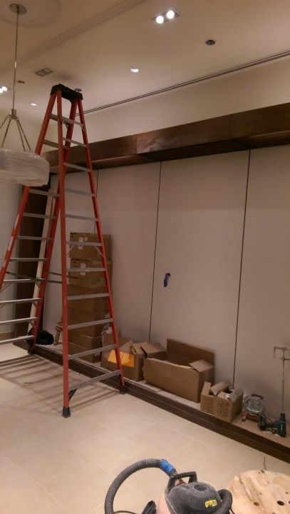 Before Deep Construction Cleaning at Banana Republic in Lynnfield, MA on Market St.